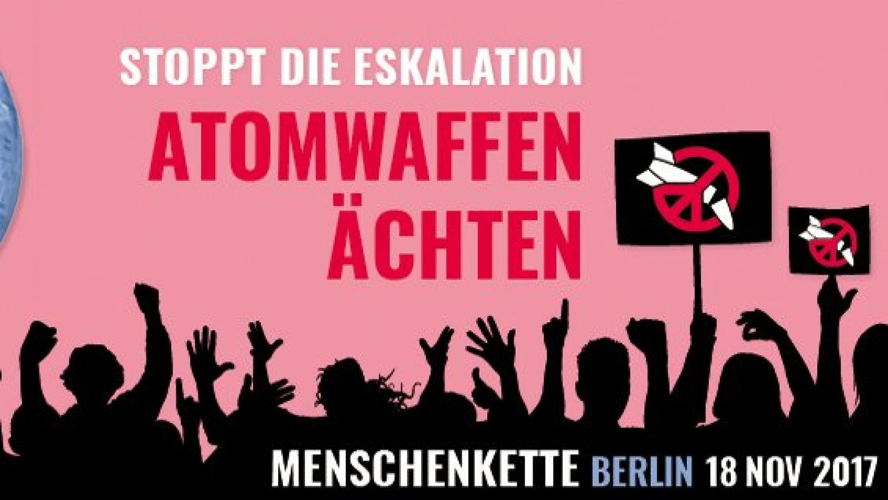 Menschenkette gegen Atomwaffen am 18. November in Berlin