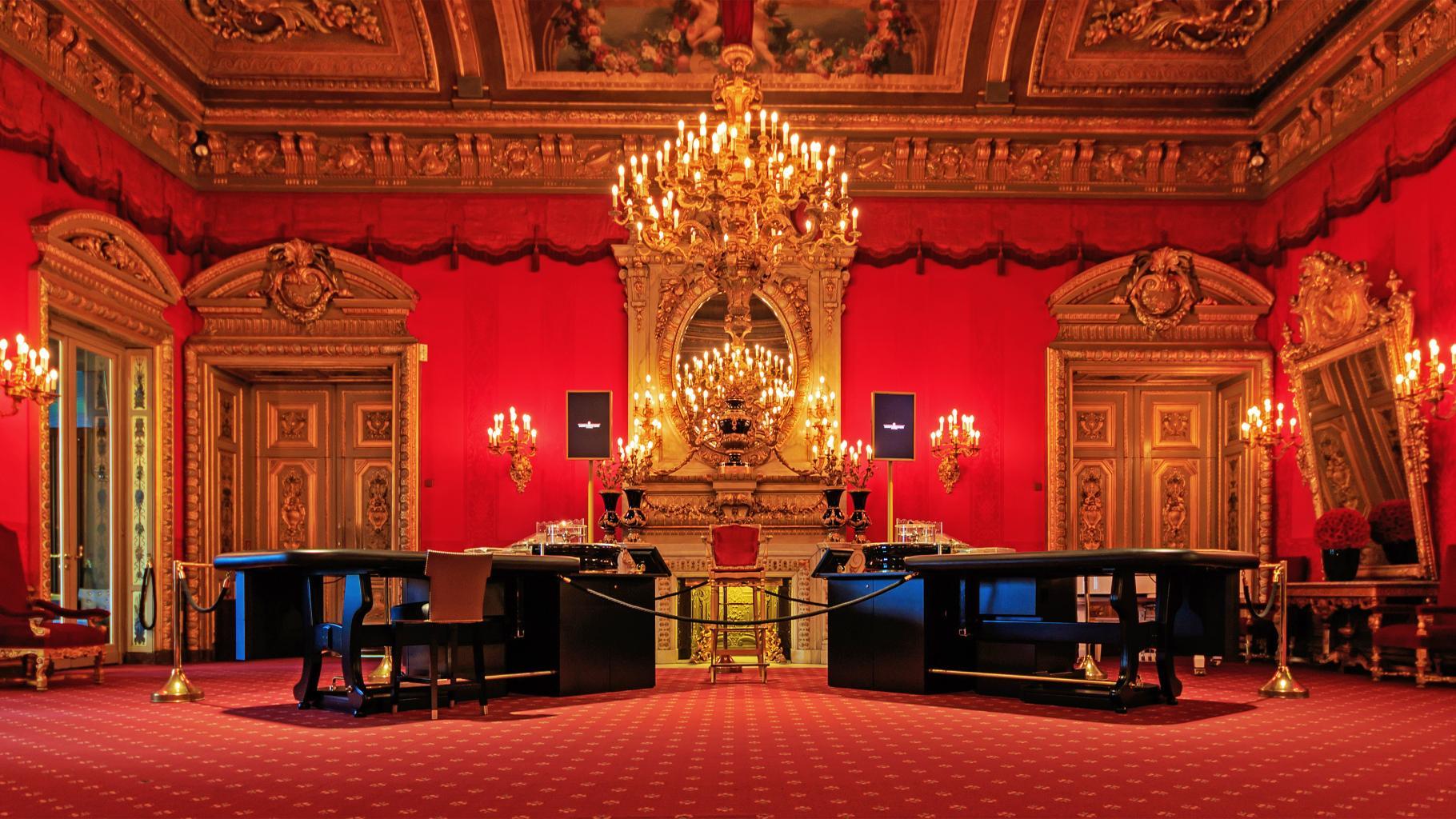 Der Rote Saal im Casino Baden-Baden.