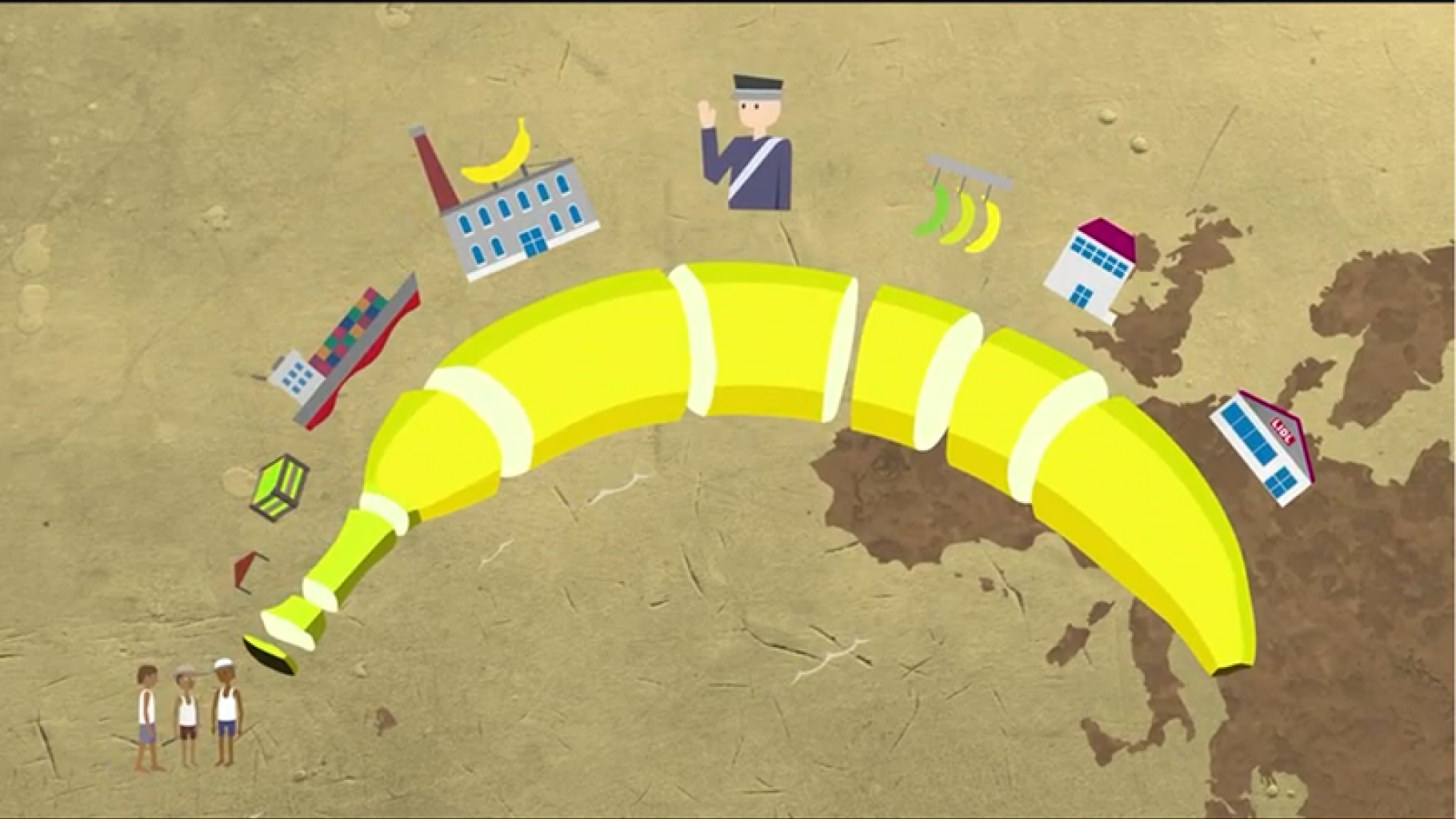 "Oxfam-Kurzfilm ""Bittere Bananen"""