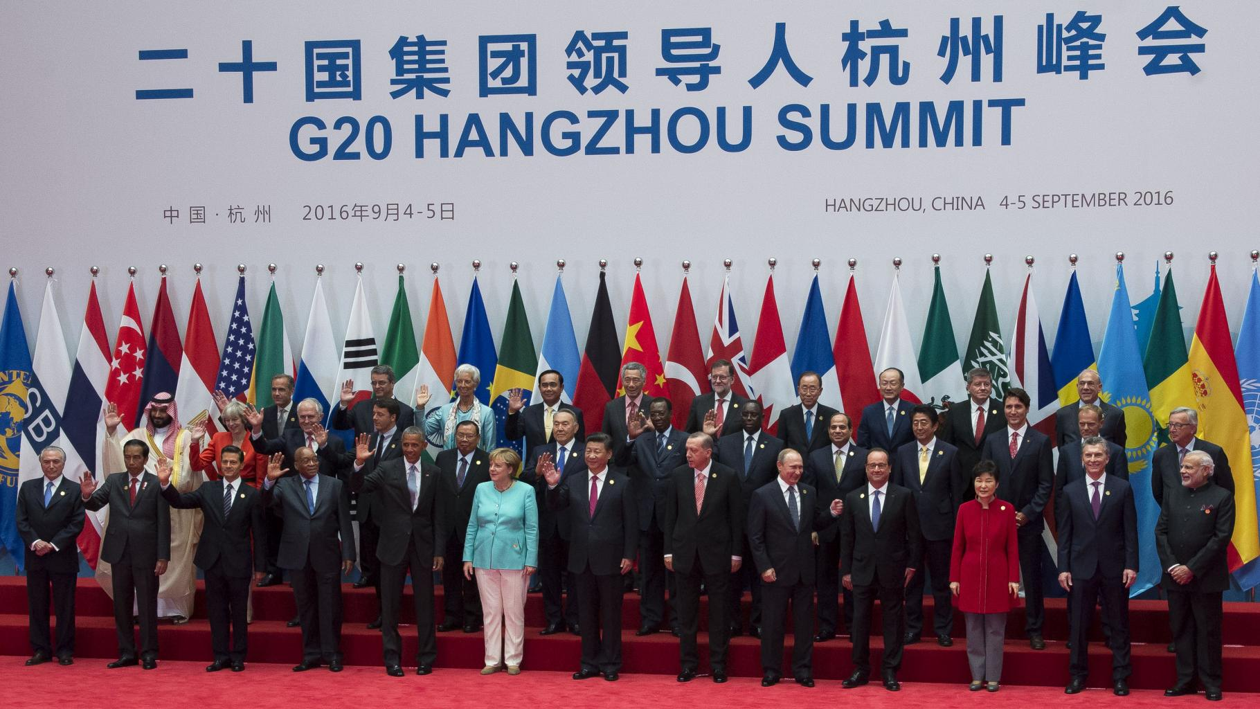 Gruppenbild G20 2016 in China