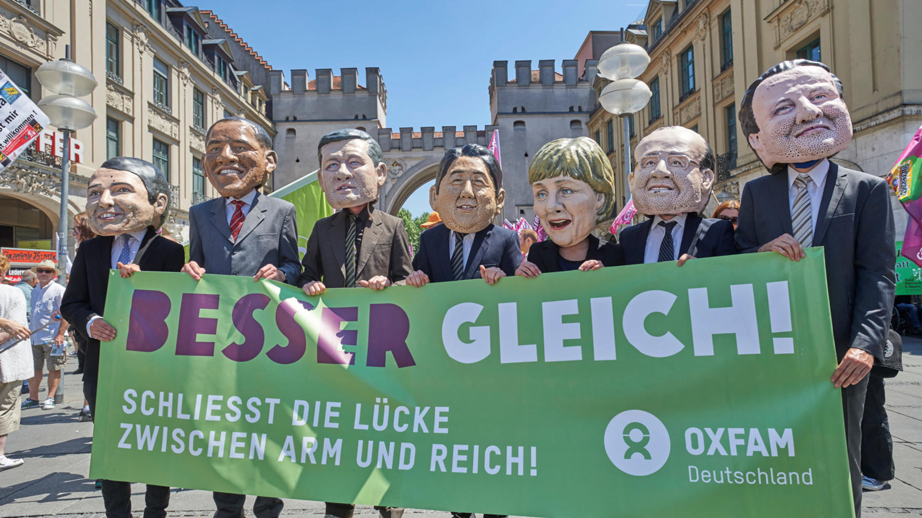 Oxfam auf der G7-Demo