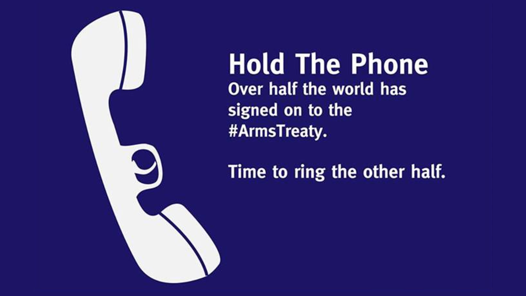 Over half the world has signed on to the arms treaty. Time to ring the other hal