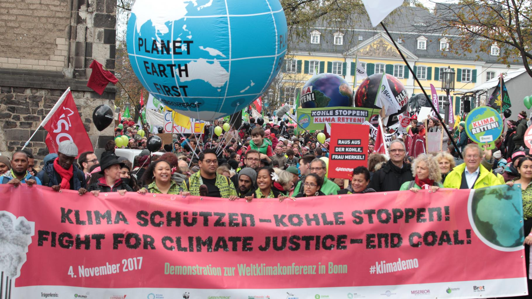 Demonstration zur Weltklimakonferenz in Bonn - Klima schützen - Kohle stoppen!