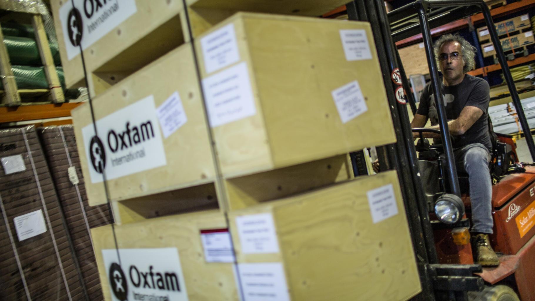 Oxfam Lagerhaus in Barcelona