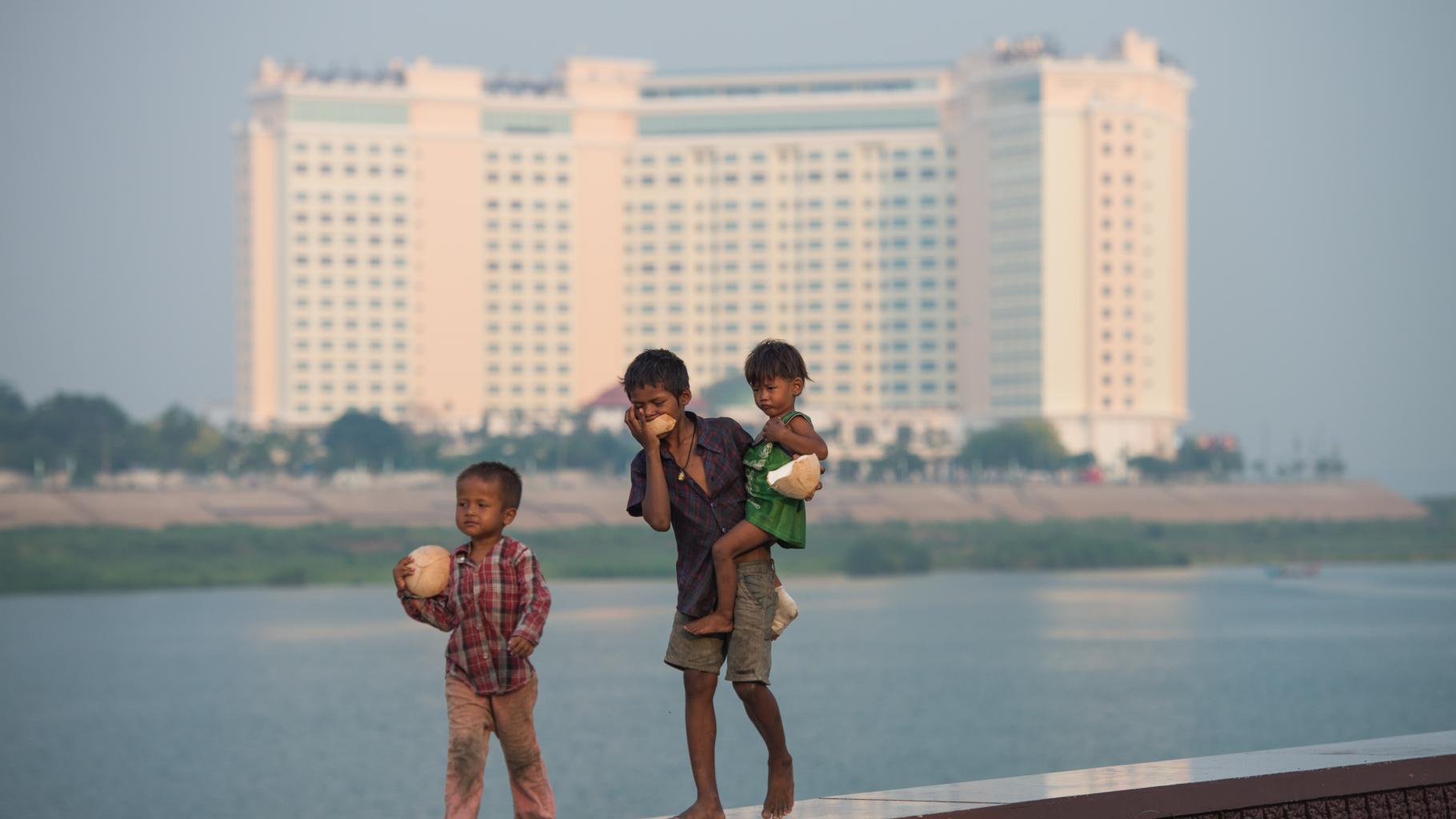 Die Promenade von Phnom Penh in der Hauptstadt Kambodschas