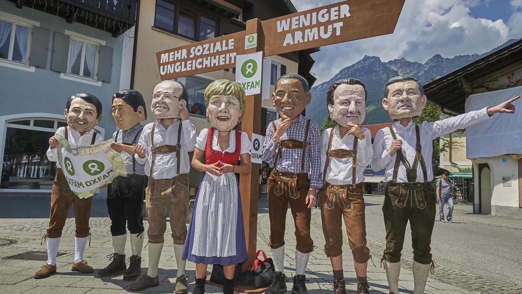Aktivisten beim G7-Gipfel in Elmau
