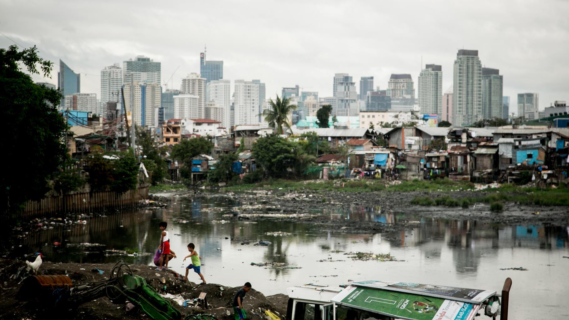 Slum Tondo in Manila, Philippinen