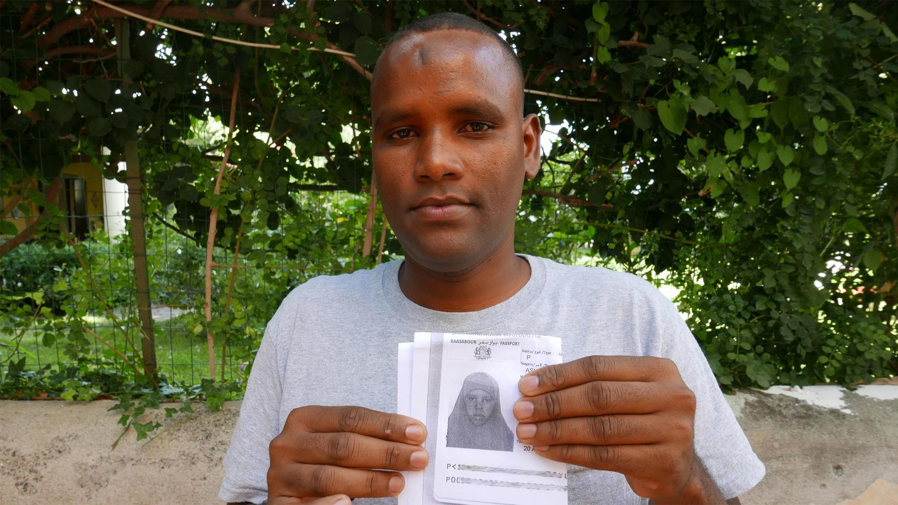 Osman M. musste seine Frau und zwei kleine Kinder in Somalia zurücklassen.