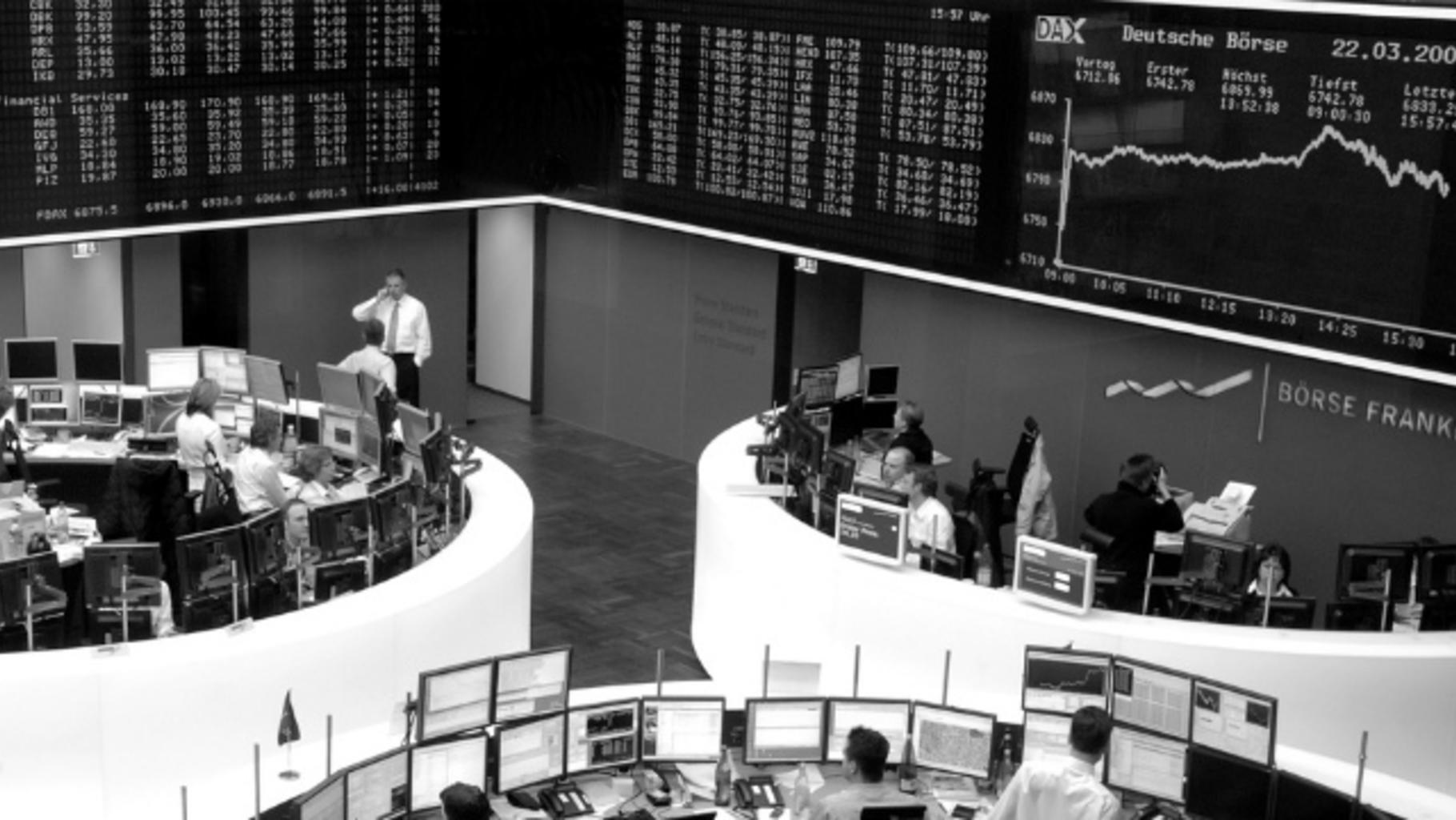 Die Börse in Frankfurt am Main
