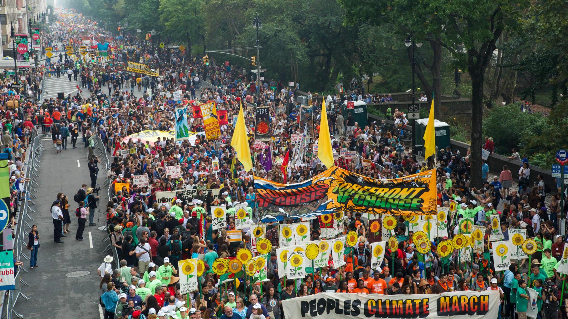 400.000 Menschen demonstrieren für den Klimaschutz