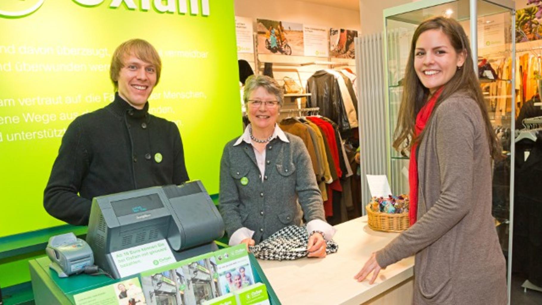 Foto: Verkauf in einem Oxfam Shop