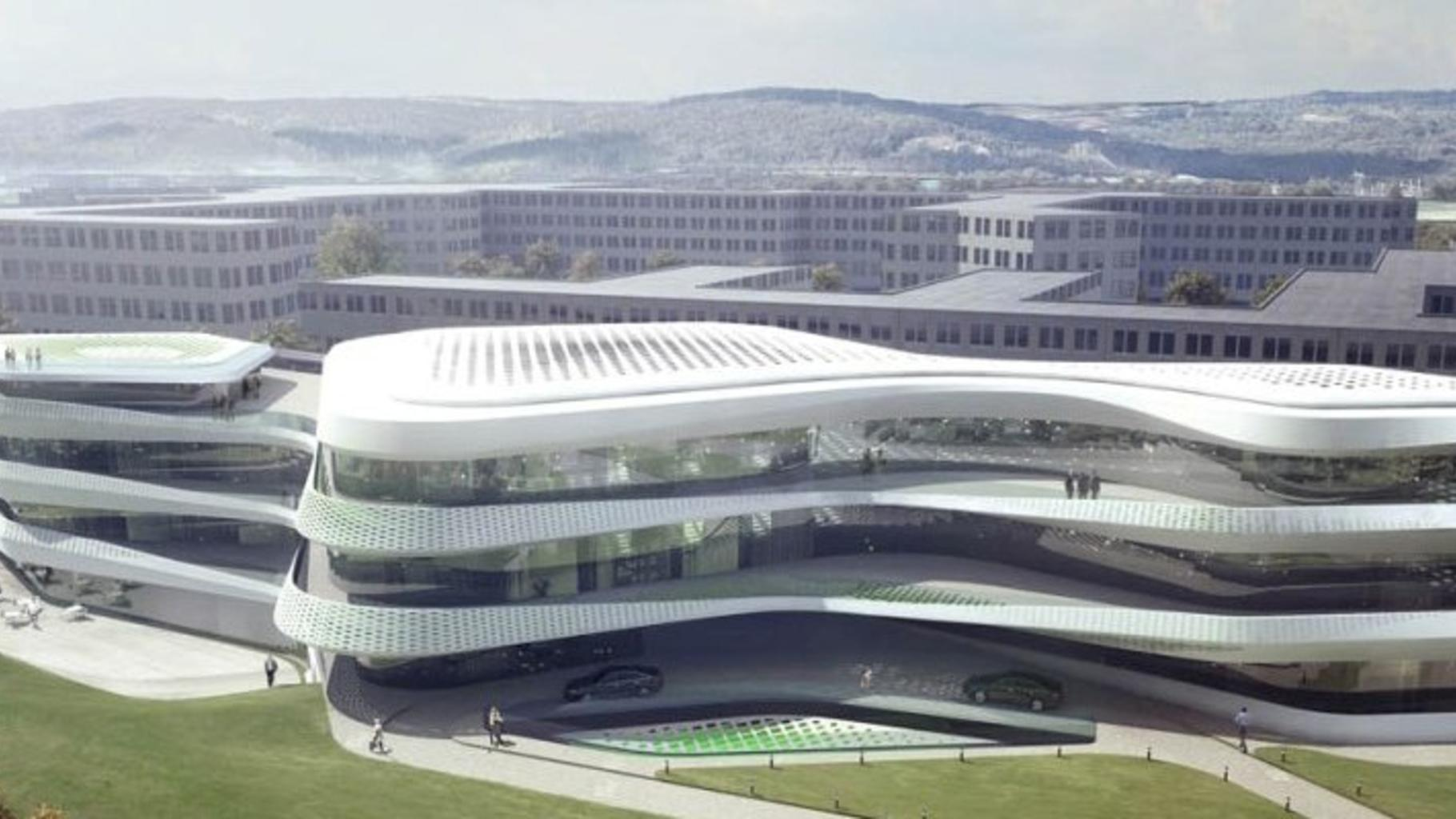 Geplantes Gebäude für den Green Climate Fund