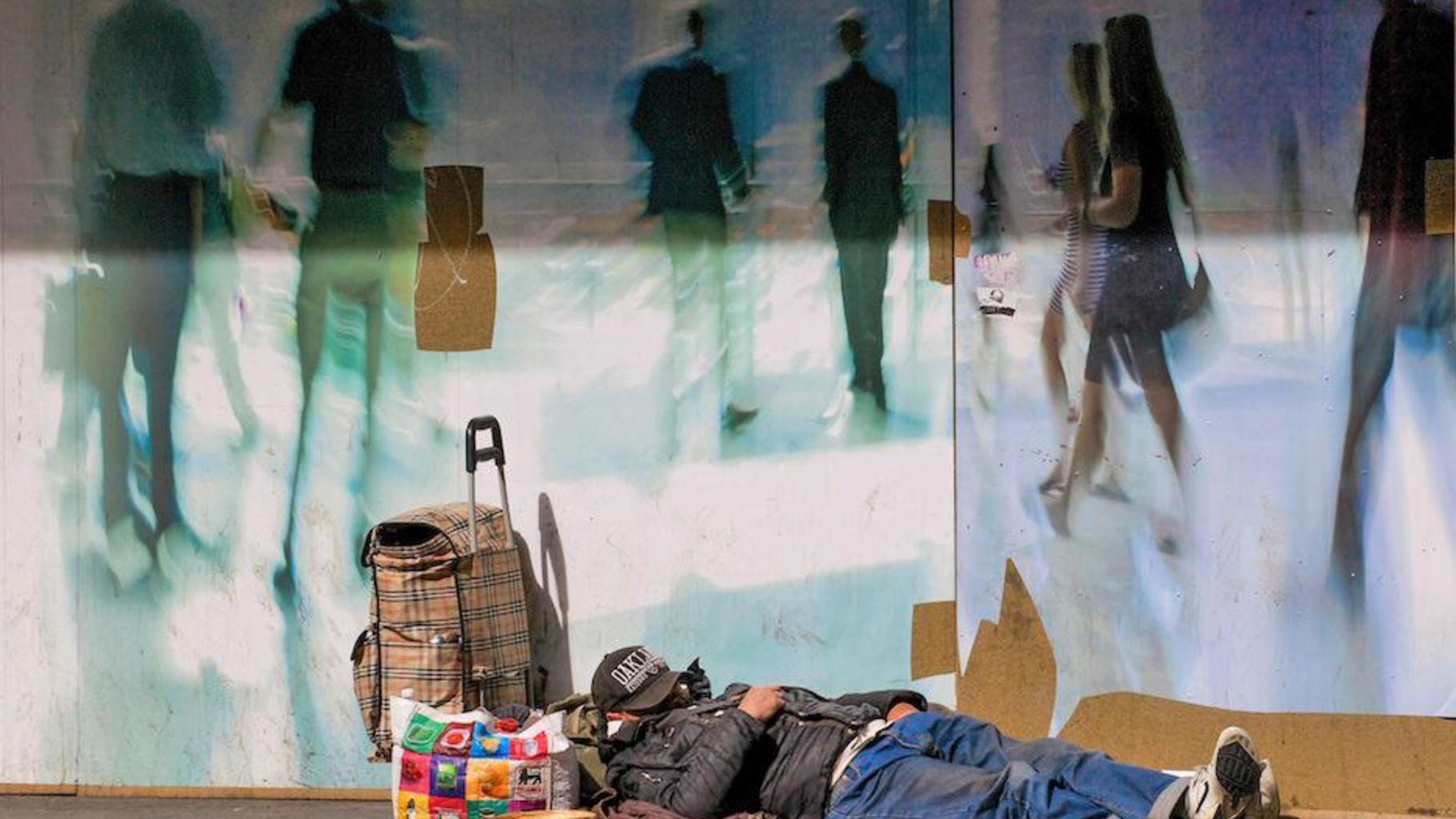 Obdachloser in Brüssel
