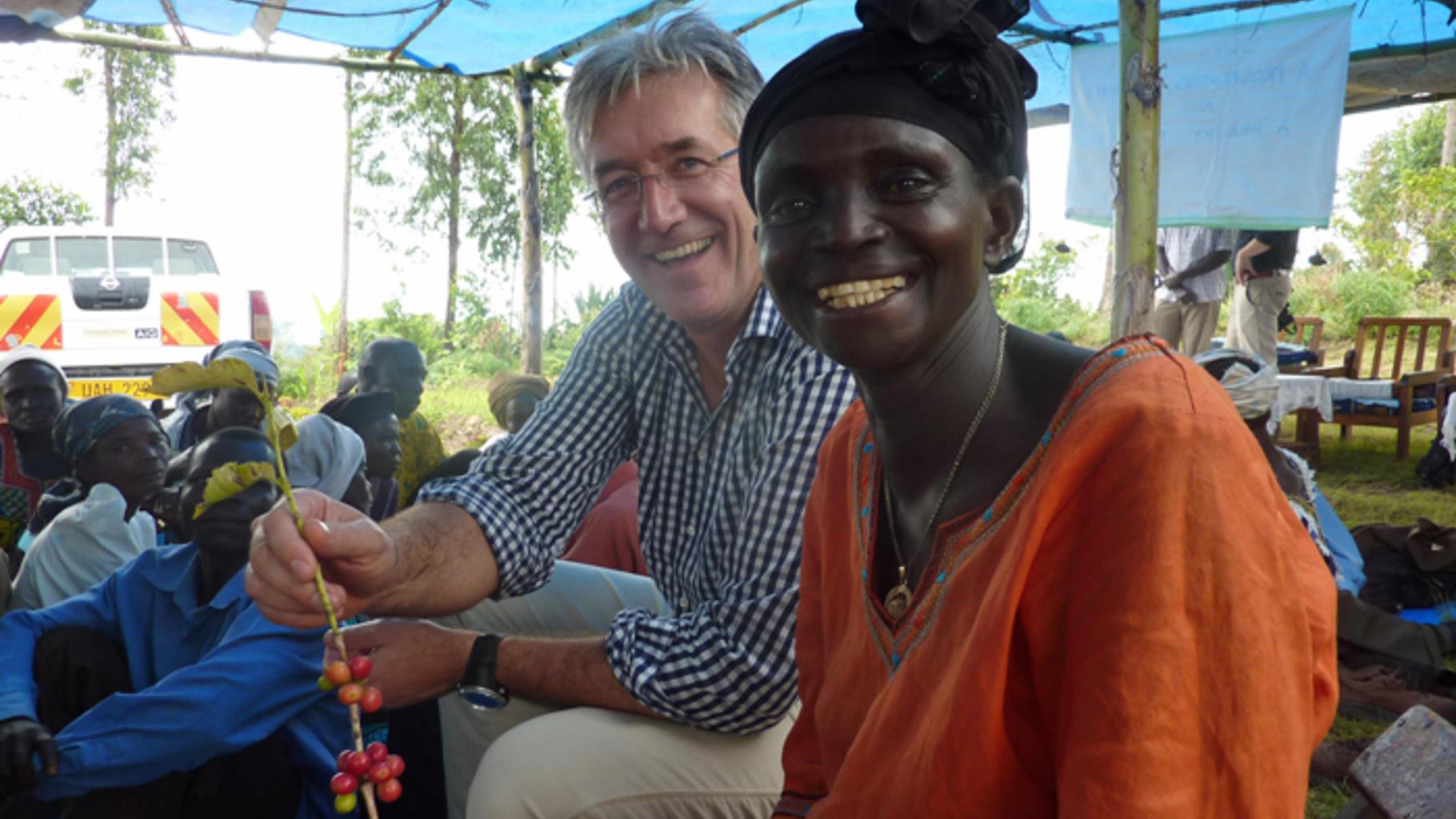 Paul Smeets und Jeanet Ozinga lachen gemeinsam