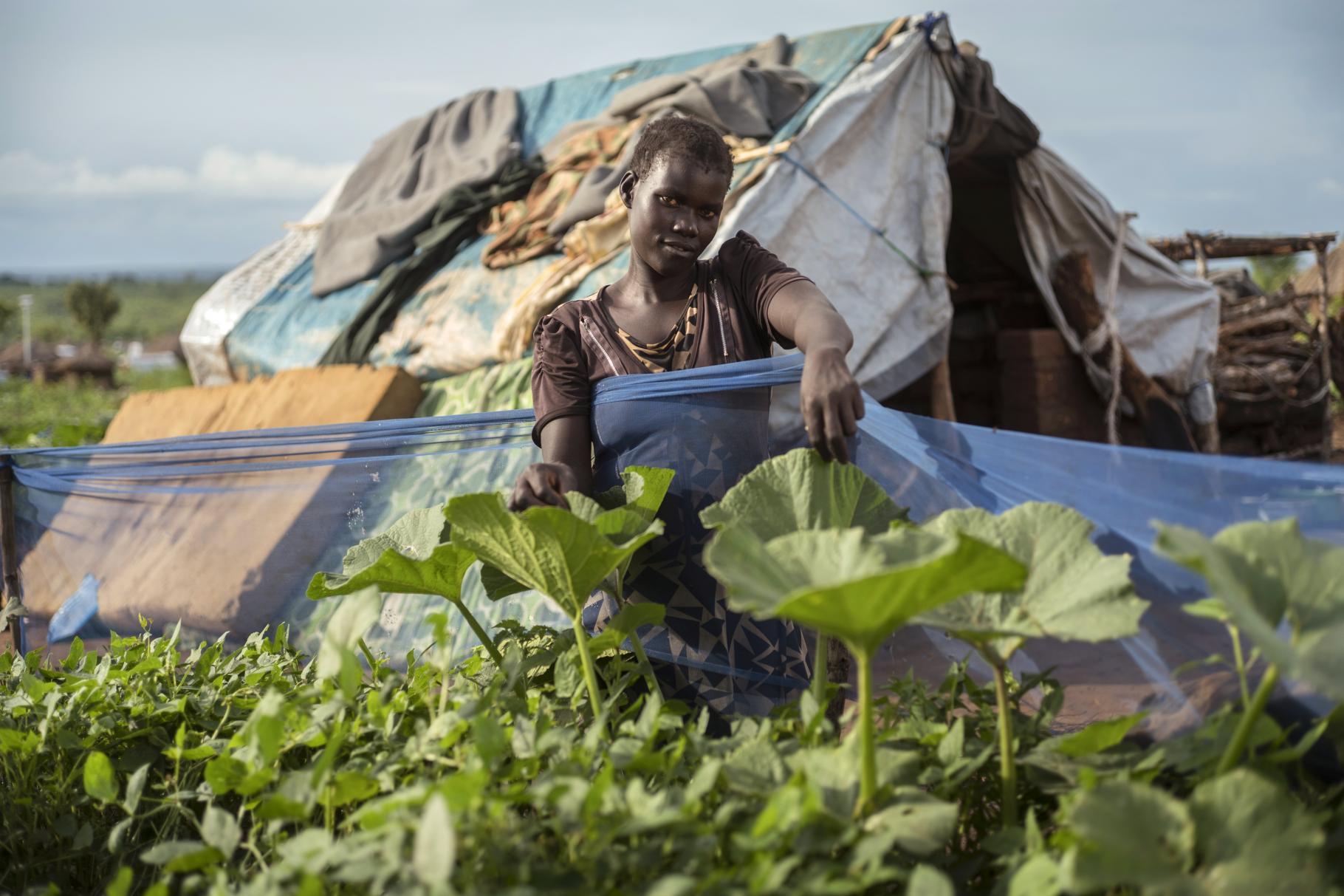 Charity aus Südsudan in einer Flüchtlingssiedlung in Uganda