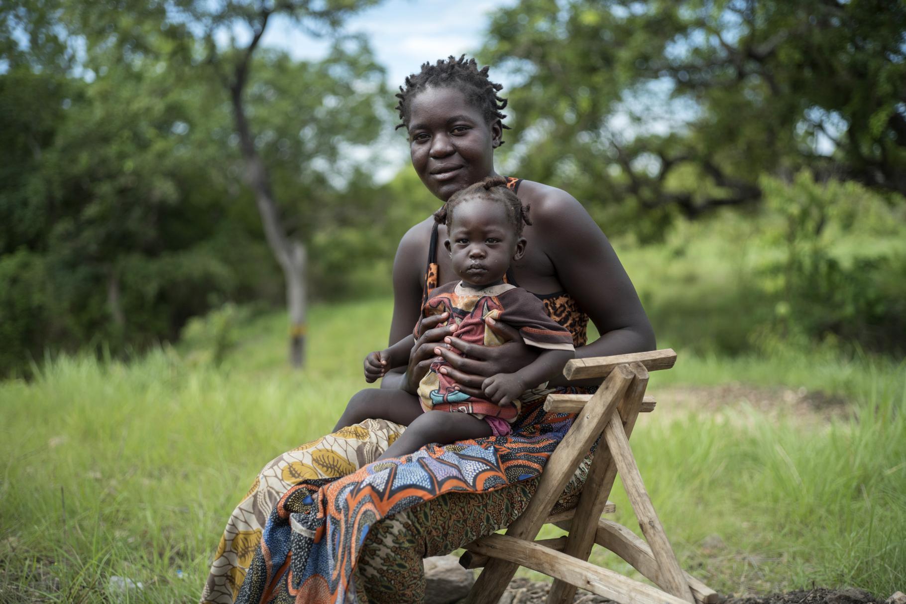 Beatrice aus Südsudan in einer Flüchtlingssiedlung in Uganda