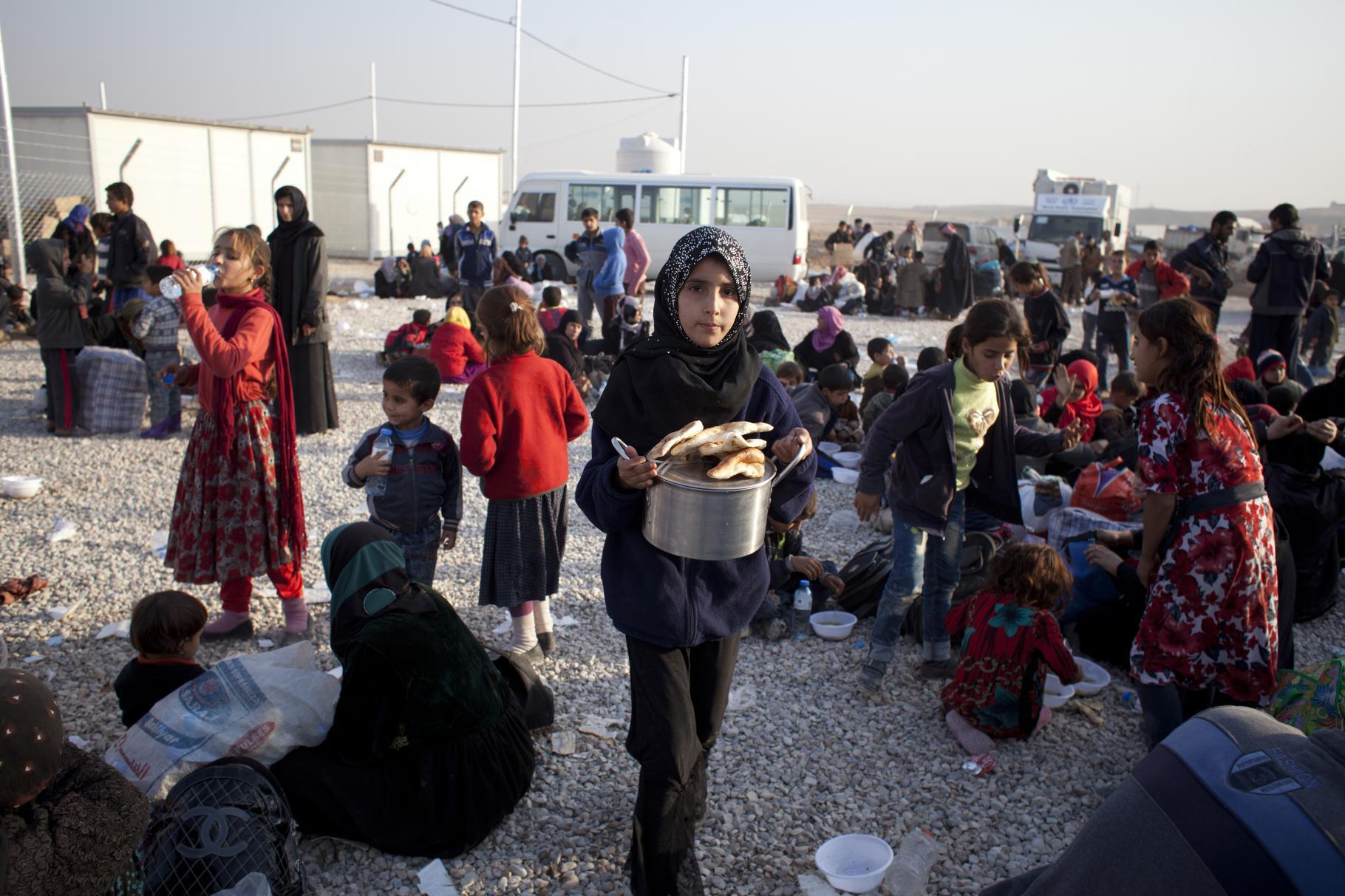 Geflüchtete im Camp Hassansham bei Mossul